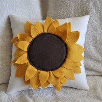 MOTHERS DAY SALE Sunflower Pillow 14x14