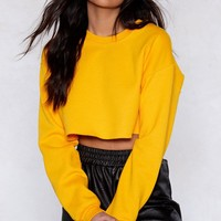 Sit Back Cropped Sweater
