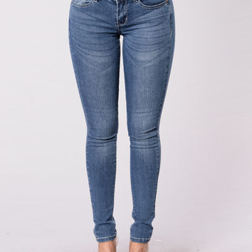 Searching For Your Love Jeans - Medium Blue