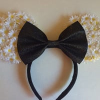 Flower themed disney ears