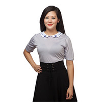 I love You, I know Peter Pan Collared Shirt - Exclusive