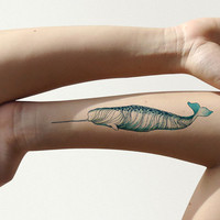 Narwhal Temporary Tattoo