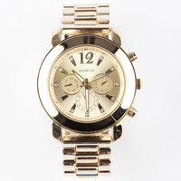 Geneva Rhinestone Accent Chrono Watch Gold One Size For Women 24026862101