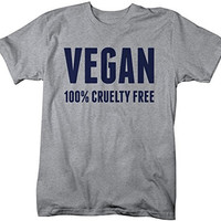 Shirts By Sarah Men's Vegan Shirt 100% Cruelty Free T-Shirt For Vegans