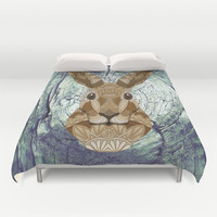 Ornate Hare Duvet Cover by ArtLovePassion