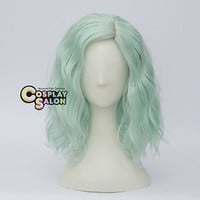 Halloween Mix Colors Curly Medium Women Girl Lolita Anime PartyCosplay Wig+Cap