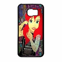 Ariel Little Mermaid Tattoo With Flower Cover Samsung Galaxy S6 Case