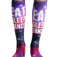 Eat Sleep Dance Knee High Socks