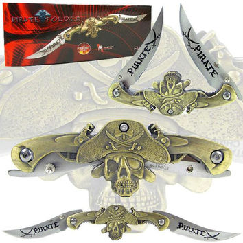 Whetstone  9.5 Inch Dual Blade Stainless Steel Pirate Folder