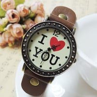 Vintage Romantic I love You Watch