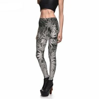 Grayscale Mary Jane Printed Leggings