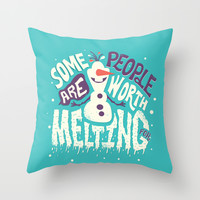 Worth melting for Throw Pillow by Risa Rodil