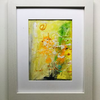 012 Original Abstract  Art on Paper. Free-shipping within USA.