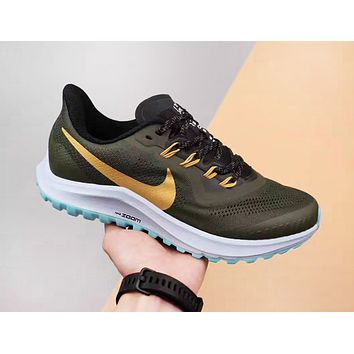 NIKE Air Vapormax Flyknit Fashion New Hook Print Men Running Shoes