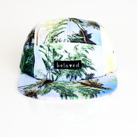 5 Panel Palm Trees Hat - READY TO SHIP