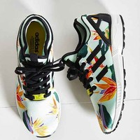 adidas Originals ZX Flux Tropical Running Sneaker- Green Multi W