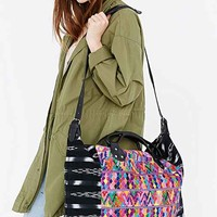 Stela 9 Isabel Embroidered Weekender Bag- Black One