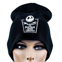 Jack Skellington Tombstone Beanie Knit Cap Nightmare Before Christmas