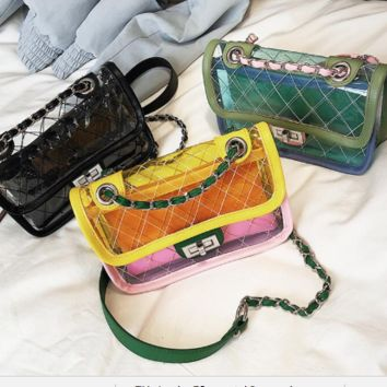 Transparent  Jelly Chain Small Messenger Bag