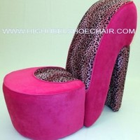 Amazon.com: Child Size Pink and Leopard High Heel Shoe Chair: Home & Kitchen