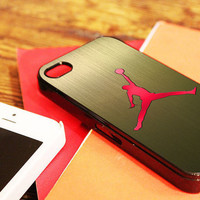 "Nike Air Jordan Logo - for iPhone 4 / 4s case, iPhone 5 case - Black / White. "" Option please """