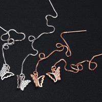 Lovely rose gold buterfly 925 sterling silver ear wire,a perfect gift