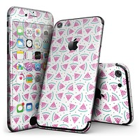 The All Over Watermelon Slice Pattern - 4-Piece Skin Kit for the iPhone 7 or 7 Plus