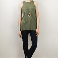 Front Pocket Slouchy Tank
