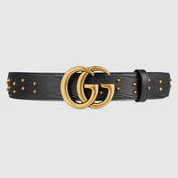 Gucci Studded belt with double G buckle