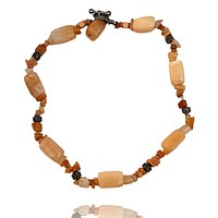 Natural Stone Nugget and Chipped Stone Necklace