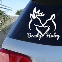 Deer Couple Car Decal | Couple Names Decal Sticker
