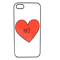 NO Red Heart Phone Case