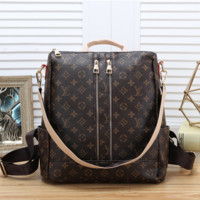 Louis Vuitton LV Women Casual School Bag Cowhide Leather Backpack