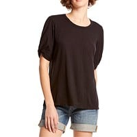 Victoria Knotted Sleeve Tee Black