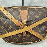 Tagre™ Auth Louis Vuitton Monogram Vintage Jeune Fille in1987 Crossbody Bag, Shoulder Bag, Co