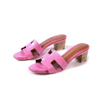 Hermes Women Fashion Casual Low Heeled Shoes Slipper Shoes