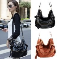 THG Brown Fashion Lady Women Young Girl Casual Adjustable Clutch Tote Shoulder Messenger Handbags Purse Hobo Bag