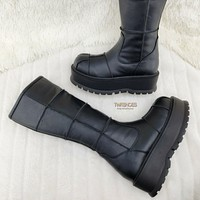 Slacker 230 Black Matte Knee High Boots US Sizes Goth Punk NY IN STOCK
