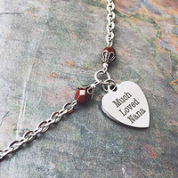 Gifts for Nana - Nana Jewelry - Stainless Steel Jewelry - Grandmother Gift - Grandma Necklace - Much Loved Nana Charm - Heart Pendant