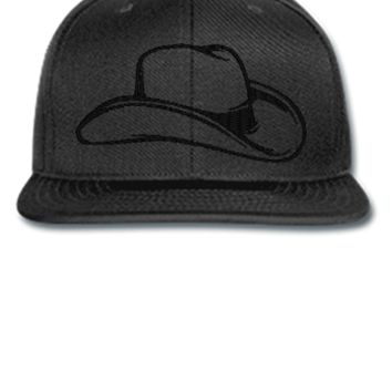 cowboy Embroidery - Snapback Hat