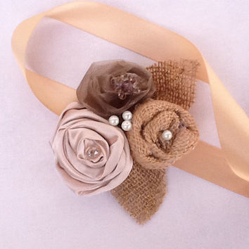Rosette Flowers - Wedding Corsage-Cake Topper- Hair Accessory