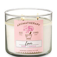 LOVE — ROSE & VANILLA3-Wick Candle