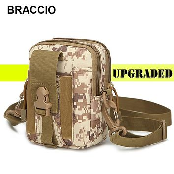 Military Molle Man Waist Pack Camo Waterproof Nylon Multifunctional Mobile Phone Case Crossbody Bags for Men Small Shoulder Bag