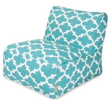 Teal Trellis Bean Bag Chair Lounger
