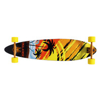 PARADISE SUNSET SKETCH CANADIAN MAPLE LONGBOARD COMPLETE 9.75X40