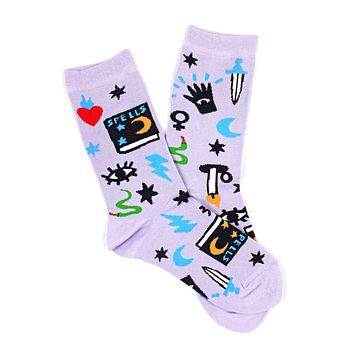 Magic Spells Witch Socks