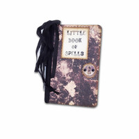 Little Book of Spells, Halloween Spell Book, Mini Moleskine Spell Book, Wiccan Pagan, Goth Book and Journal, Party Favor, Party Planner