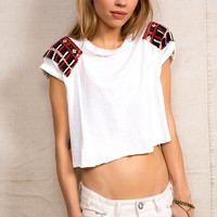 HYM Salvage X Urban Renewal Embroidered Patch Shirt - Urban Outfitters