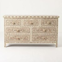 Bone Inlay Seven-Drawer Dresser by Anthropologie