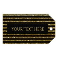 Modern Striped Gold Glitter Look Gift Tags